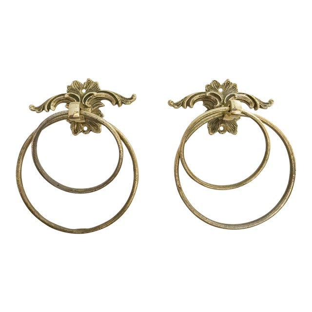 Vintage Brass Towel Holders - A Pair - Image 1 of 5