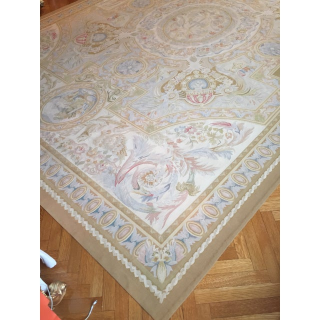 Aubusson French Wool Rug - 9′9″ × 14′2″ - Image 3 of 11