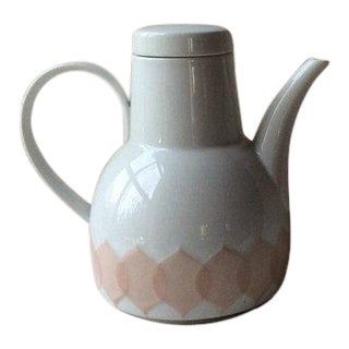 Bjorn Wiinblad Scandinavian Porcelain Coffee Pot For Sale