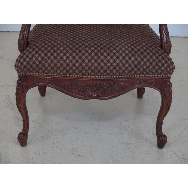 Item: SHERRILL French Louis XV Style Upholstered Arm Chair Age: Approx: 15 Years Old Details: Quality Construction 18 C....