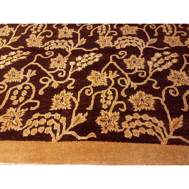 1990s Kafkaz Peshawar Yolanda Red/Gold Wool Rug - 8'11 X 11'11 For Sale - Image 5 of 7