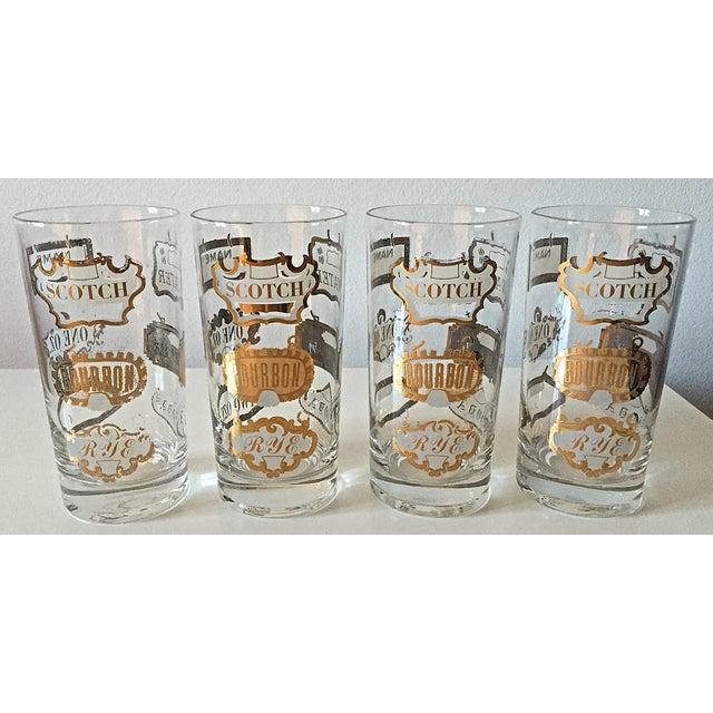 Mid-Century Gilt Scotch Tumblers - Set of 4 - Image 7 of 7