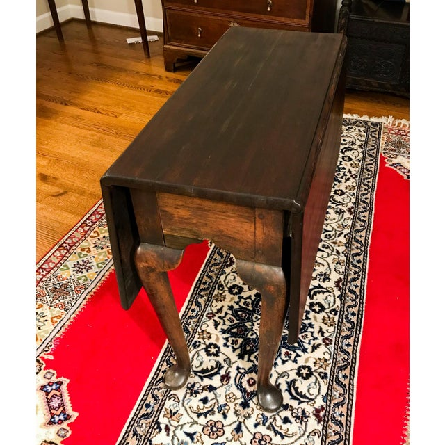 Mid 18th Century Antique Mahogany Drop-Leaf Table For Sale - Image 13 of 13
