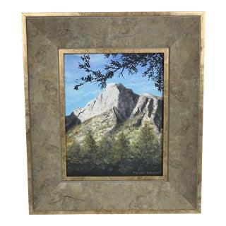 1980s Mountainous Landscape Oil Painting For Sale