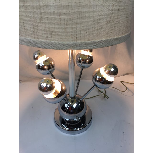 Atomic Chrome Table Lamp For Sale In Miami - Image 6 of 6