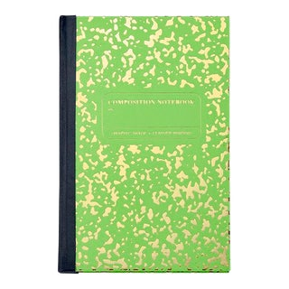 Marble Notebook in Lime For Sale