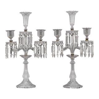 Baccarat Crystal Candelabra For Sale