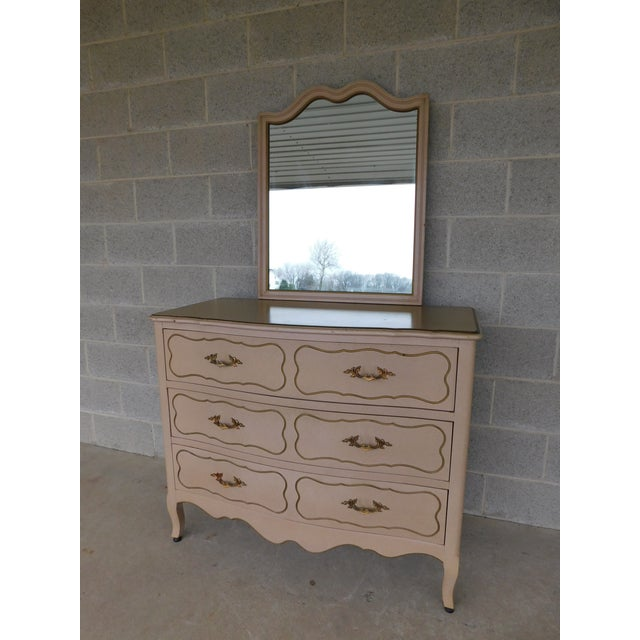 Drexel Parisienne Collection French Louis XV Style Dresser & Mirror For Sale - Image 11 of 11