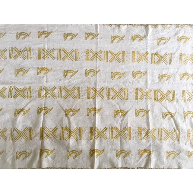 African Mali Gold Block Textile / Mudcloth For Sale - Image 3 of 6