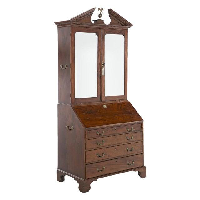 Mid 18th Century Georgian Secretaire Bookcase For Sale