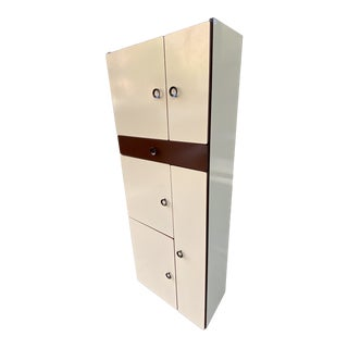 1970s Vintage Italian Shallow Cabinet For Sale
