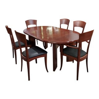 20th Century Danish Modern Skovby Mahogany Dining Set - 7 Pieces For Sale