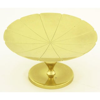 Tommi Parzinger for Dorlyn Brass Scalloped Edge Footed Compote Preview