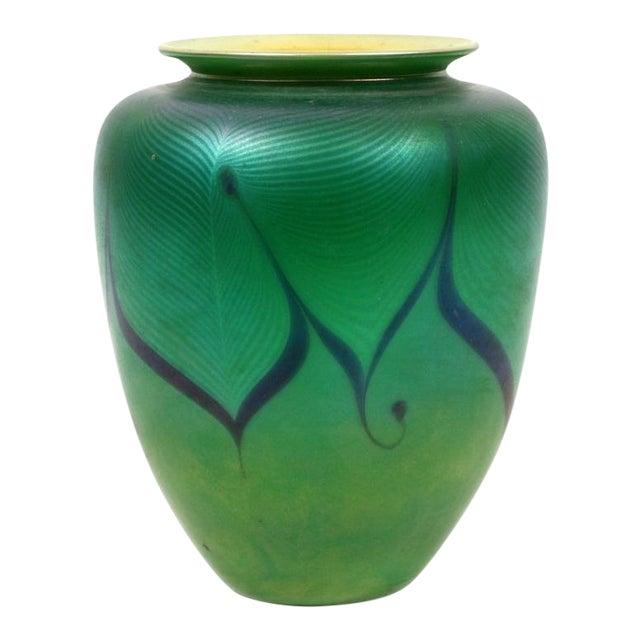 Richard Satava Green Art Glass Vase, C. 1979 - Image 1 of 9