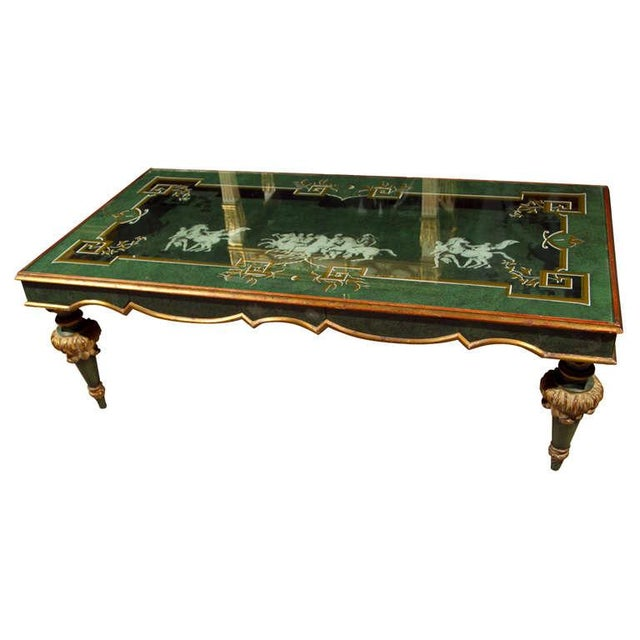 20th Century Fornasetti Style Coffee Table For Sale