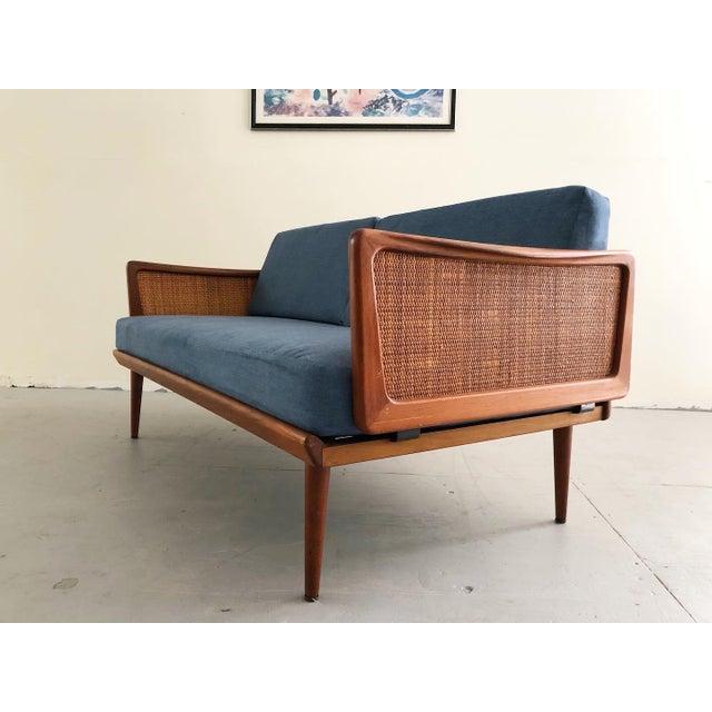 1950s Mid Century Modern Peter Hvidt & Orla Mølgaard Nielsen Teak & Cane Sofa Set- 2 Pieces For Sale - Image 5 of 10