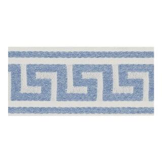 Schumacher Ganton Tape Trim in Blue For Sale