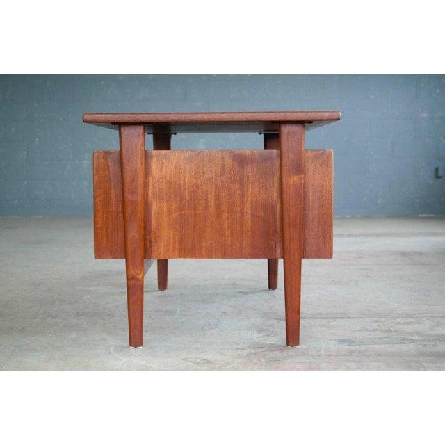 Teak Executive Teak Desk Model FM 60 by Kai Kristiansen for Feldballes Møbelfabrik For Sale - Image 7 of 10