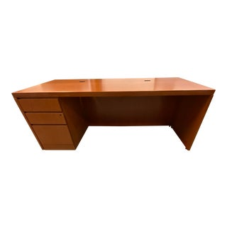 Knoll Reff Cherry Wood Executive's Desk For Sale