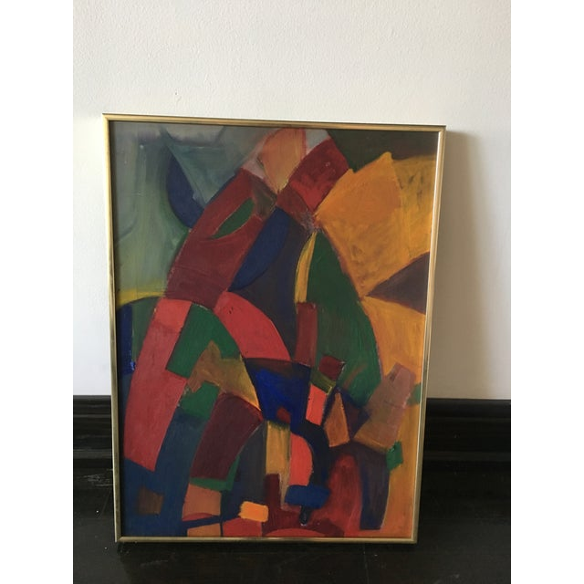 1970s Abstract Mid-Century Modern Painting For Sale - Image 5 of 5