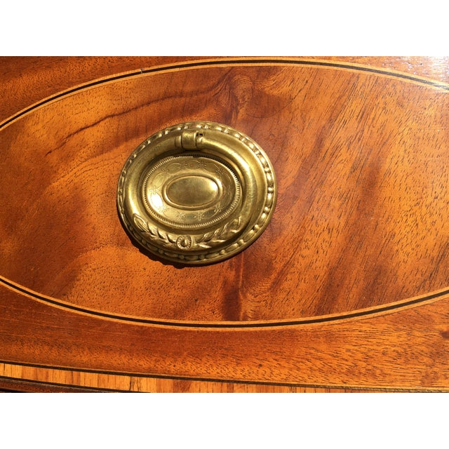 Early 20th Century Mahogany Inlaid Sideboard For Sale - Image 4 of 11
