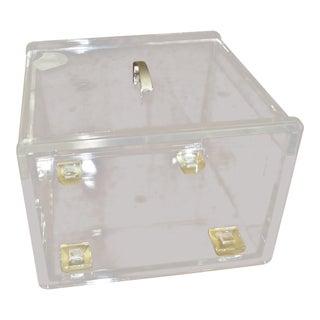 Mid Century Modern Lucite Lidded Box