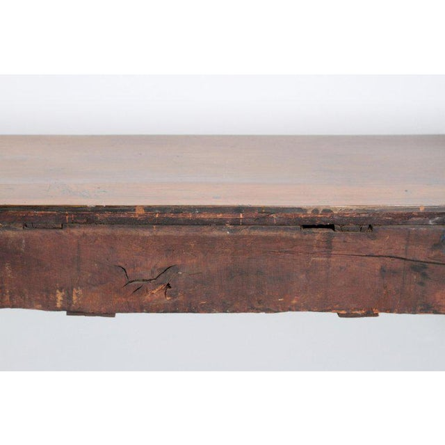 Brown English Early 19th Century Oak Three Drawer Dresser Base For Sale - Image 8 of 13