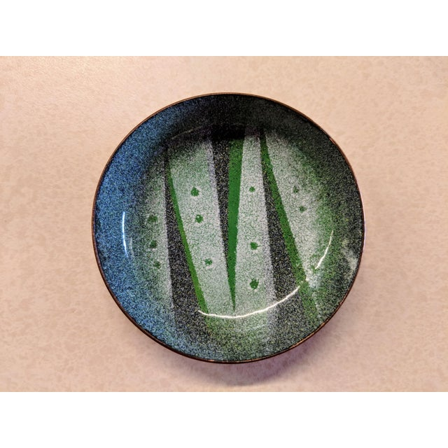 Mid-Century Modern Enamel on Copper Small Bowls - Set of 4 - Image 3 of 7