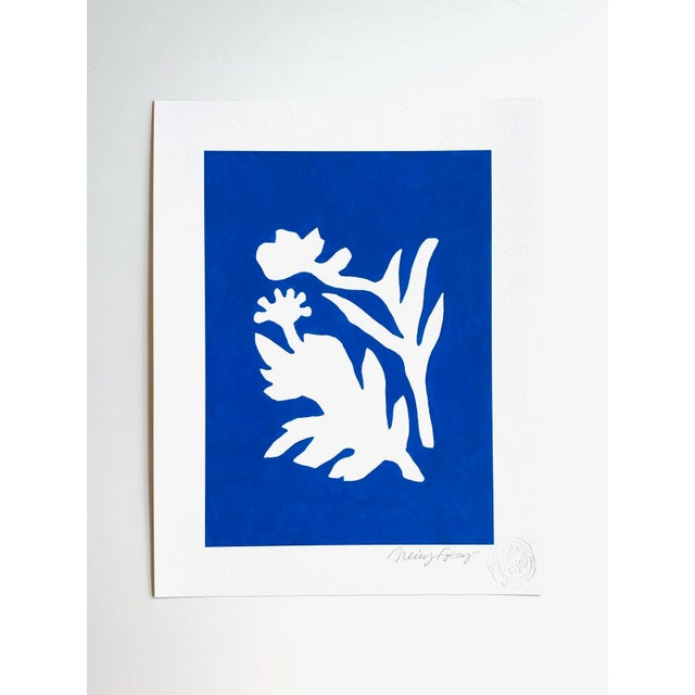 Blue Sunprints Giclees Signed and Embossed by Neicy Frey - Set of 8 For Sale - Image 8 of 11