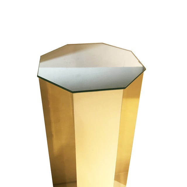 Brass Hexagonal Pedestal Column - Image 4 of 6