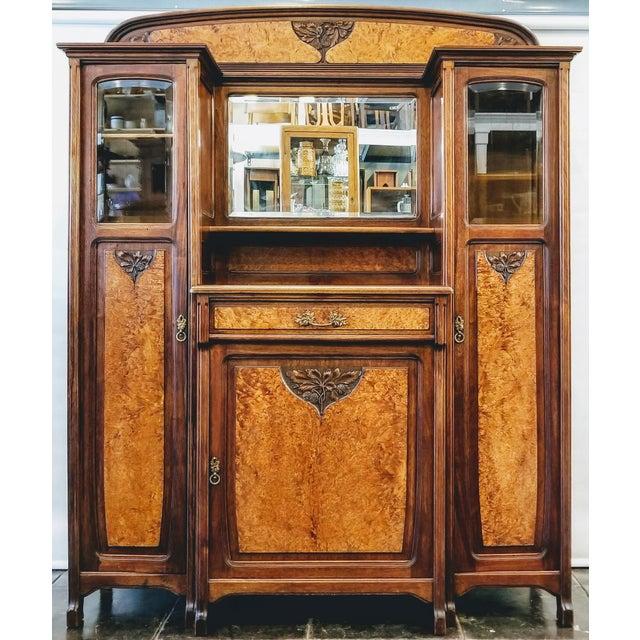 1900s Art Nouveau Gauthier-Poinsignon Ecole Nancy Main Buffet For Sale - Image 13 of 13