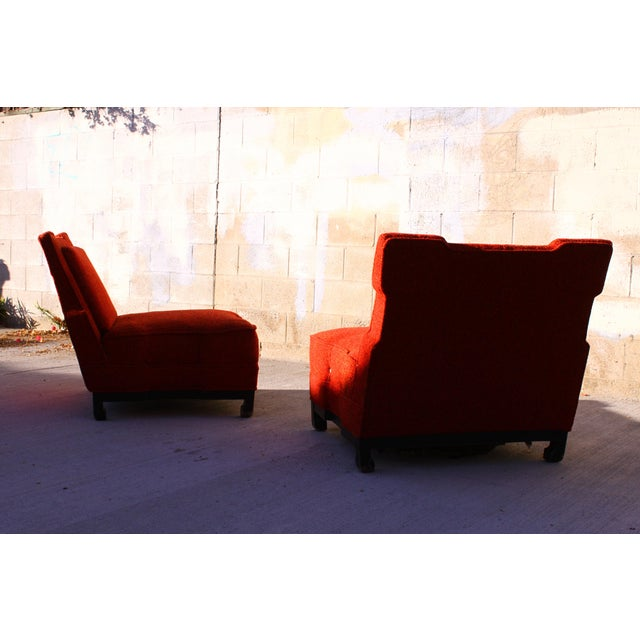 Rare James Mont Slipper Chairs - A Pair - Image 6 of 11