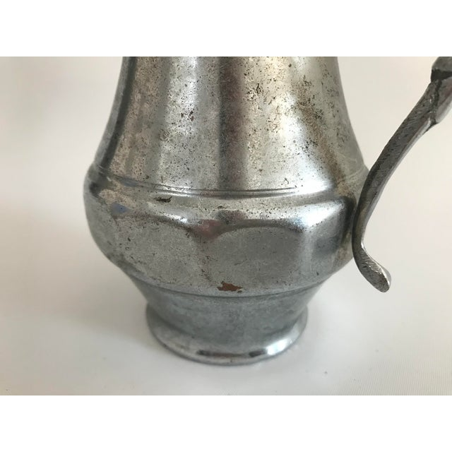 Silver Vintage Copper Turkish Water Carafe For Sale - Image 8 of 11