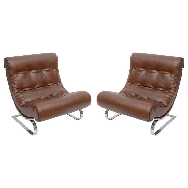Formanova Club Lounge Chairs - A Pair For Sale