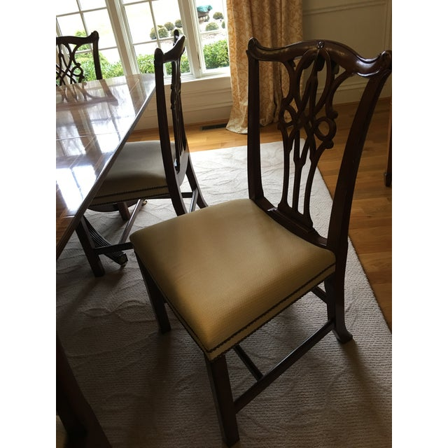 Baker Furniture Mahogany Dining Chairs - Set of 8 - Image 6 of 7