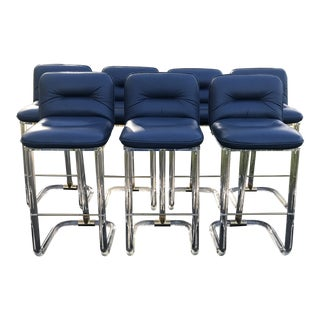 Lucite Bar Stools by Leon Frost of Lion in Frost Inc- Set of 7 For Sale