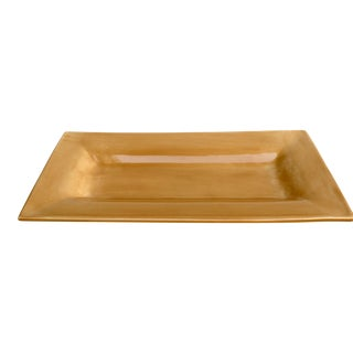 Amber Rectangular Serving Platter For Sale