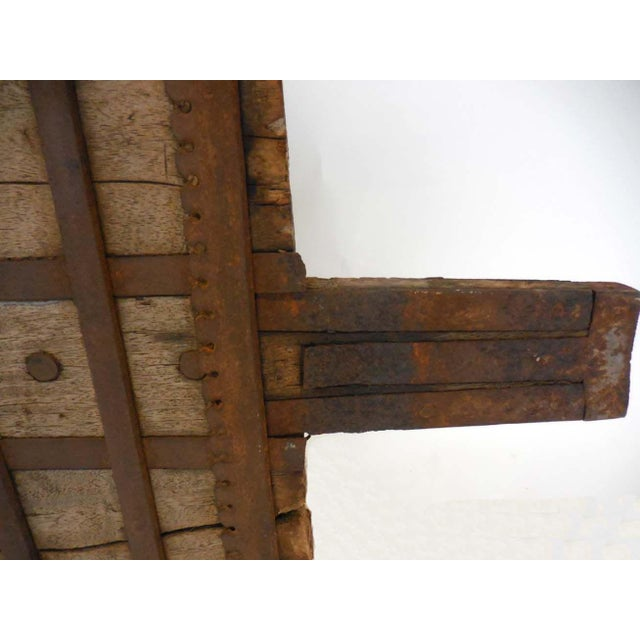 Metal Wood and Iron Architectural Element For Sale - Image 7 of 8