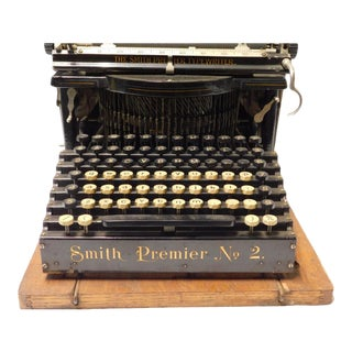 1904 Smith Premier Typewriter With Case For Sale