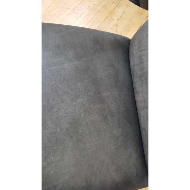 2010s Bernhardt Markham Gray Upholstered Club Chair For Sale - Image 5 of 8