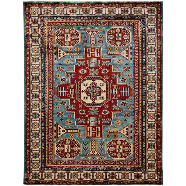 "Traditional Hand Knotted Area Rug - 5'5"" X 7' - Image 1 of 3"