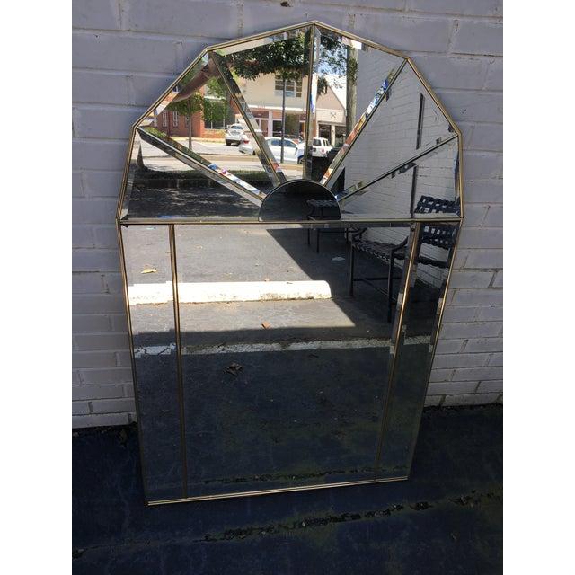 Brass Sculptural Hollywood Regency Mirror - Image 3 of 7