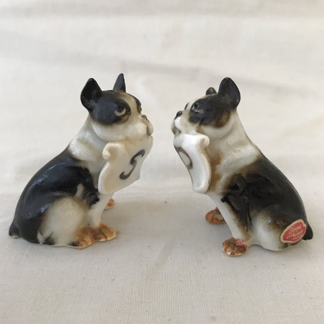 Vintage Boston Terrier Salt & Pepper Shakers - a Pair For Sale - Image 4 of 6