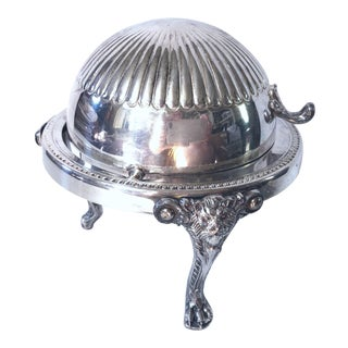Silver Plate Butter Dish For Sale