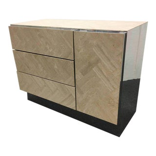 Travertine and Chrome Cabinet by Ello
