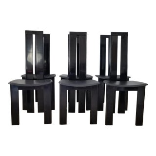 80's Italian Postmodern Pietro Costantini Dining Chairs Set of 6 . For Sale