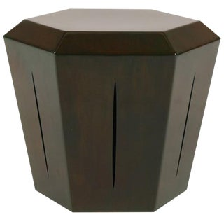 Hedra 14S Steel Accent Table in Brown Green Patina by Topher Gent For Sale