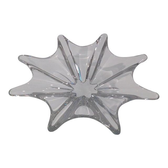 Baccarat Crystal Etched Accent Bowl For Sale