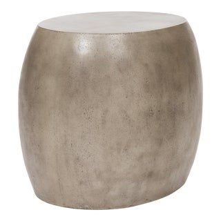 Pebble End Table, Dark Grey For Sale