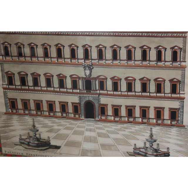 18th C. Architectural Engraving of a Roma Palazzo For Sale - Image 4 of 7